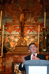 UK ENGLAND BRIGHTON 26SEP04 - Chancellor of the Exchequer Gordon Brown speaks at St. Bartholomew's Church in Brighton ahead of the Labour Party conference set to begin here a day later. ....jre/Photo by Jiri Rezac....© Jiri Rezac 2004....Contact: +44 (0) 7050 110 417..Mobile:  +44 (0) 7801 337 683..Office:  +44 (0) 20 8968 9635....Email:   jiri@jirirezac.com..Web:     www.jirirezac.com