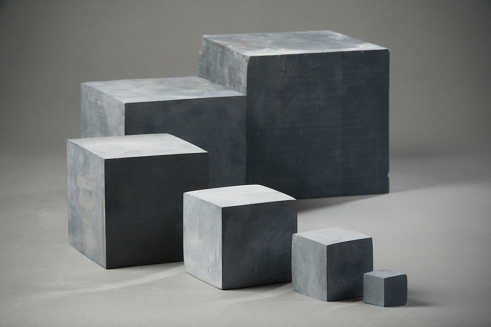 Stone blocks organized from largest to smallest