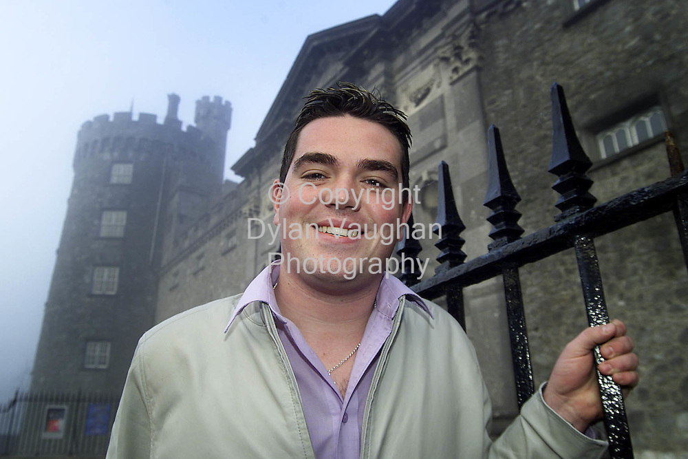 5/1/2002 Evening Herald.Trevor O Neill from the Popstars tv show pictured at Kilkenny Castle..Picture Dylan Vaughan