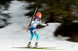 Nadiia Bielkina of Ukraine competes during Women 7.5 km Sprint at day 1 of IBU Biathlon World Cup 2014/2015 Pokljuka, on December 18, 2014 in Rudno polje, Pokljuka, Slovenia. Photo by Vid Ponikvar / Sportida