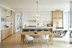 A bright modern kitchen in the 937 building. Interior designed by Andee Hess of Osmose