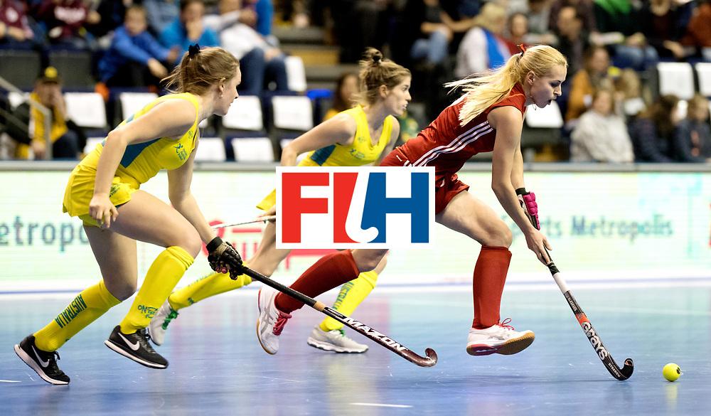 BERLIN - Indoor Hockey World Cup<br /> Quarterfinal 1: Belarus - Australia<br /> foto: PAPKOVA Krestina.<br /> WORLDSPORTPICS COPYRIGHT FRANK UIJLENBROEK
