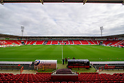 A General view of the Keepmoat Stadium prior to kick off during the EFL Sky Bet League 1 match between Doncaster Rovers and Bristol Rovers at the Keepmoat Stadium, Doncaster, England on 19 October 2019.
