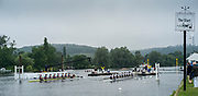 Henley-on-Thames. United Kingdom.  Heat of the Princess Elizabeth Challenge Cup.  Oxon, Kings School Chester and Wichester College.  2017 Henley Royal Regatta, Henley Reach, River Thames. <br /> <br /> 08:10:52  Wednesday  28/06/2017   <br /> <br /> [Mandatory Credit. Peter SPURRIER/Intersport Images.