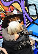Gaga Hugging mom after toast