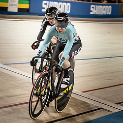 28-12-2018: Wielrennen: NK Baan: Apeldoorn<br />Laurine van Riessen (Beatcyclingteam) pakt de titel op de sprint  door twee keer winst tegen Kyra Lamberink