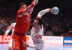 The handball match between National teams of Serbia and Croatia in Group A of Men's EHF EURO 2020 on January 13, 2020 in Stadhalle Graz, Graz, Austria