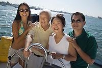 Family on boat (portrait)