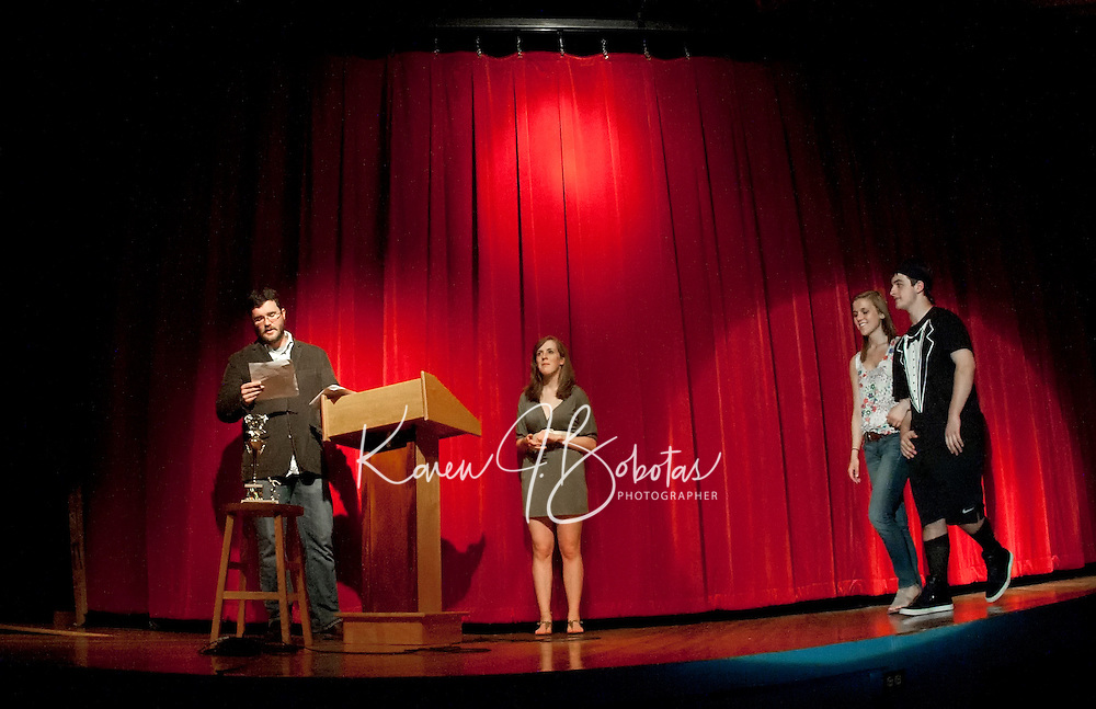 Talent show portion of the Mr. LHS pageant at the Laconia high school auditorium May 20, 2011.