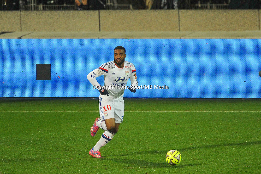Alexandre LACAZETTE  - 04.12.2014 - Lyon / Reims - 16eme journee de Ligue 1  <br /> Photo : Jean Paul Thomas / Icon Sport