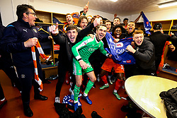 Luton Town celebrate winning the league and securing automatic promotion from Sky Bet League 1 to the Sky Bet Championship - Rogan/JMP - 04/05/2019 - Kenilworth Road - Luton, England - Luton Town v Oxford United - Sky Bet League One.