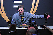 Jan 5, 2019; San Jose, CA, USA; Clemson Tigers defensive coordinator Brent Venables during the College Football Playoff Championship Media Day at SAP Center.