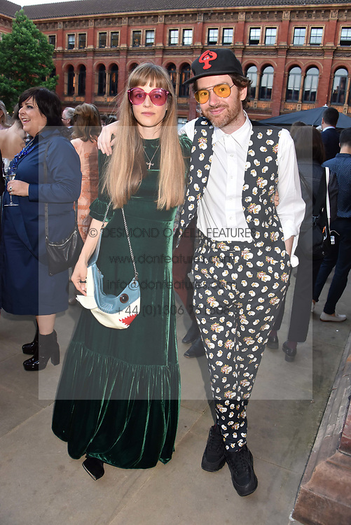 Philip Colbert and Charlotte Colbert at the Victoria & Albert Museum's Summer Party in partnership with Harrods at The V&A Museum, Exhibition Road, London, England. 20 June 2018.