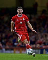 CARDIFF, WALES - Thursday, October 11, 2018: Wales' Sam Vokes during the International Friendly match between Wales and Spain at the Principality Stadium. (Pic by Laura Malkin/Propaganda)