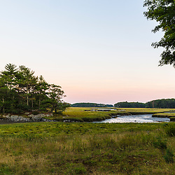 The salt marsh at the Brave Boat Harbor Headwaters preserve in Kittery, Maine.
