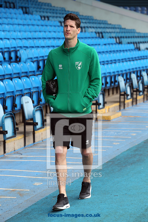 Timm Klose of Norwich before the Sky Bet Championship match at Elland Road, Leeds<br /> Picture by Paul Chesterton/Focus Images Ltd +44 7904 640267<br /> 29/04/2017