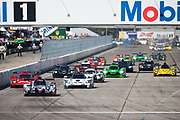 March 16-18, 2017: Mobil 1 12 Hours of Sebring. Start of the Mobil 1 12 hours of Sebring prototype class.