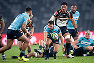 SYDNEY, AUSTRALIA - JUNE 08: Waratahs player Nick Phipps (9) passes the ball at week 17 of Super Rugby between NSW Waratahs and Brumbies on June 08, 2019 at Western Sydney Stadium in NSW, Australia. (Photo by Speed Media/Icon Sportswire)