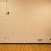 Canada, Edmonton. Feb/10/2013. McKernan Community League building renovation project. Old building interior view.