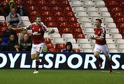 Nottingham Forest's Darius Henderson celebrates his goal- Photo mandatory by-line: Matt Bunn/JMP - Tel: Mobile: 07966 386802 19/11/2013 - SPORT - Football - City Ground - Nottingham - Nottingham Forest v Reading - Sky Bet Championship