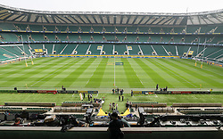 A general view as preparations are made inside the stadium before the Aviva Premiership Final at Twickenham Stadium, London.