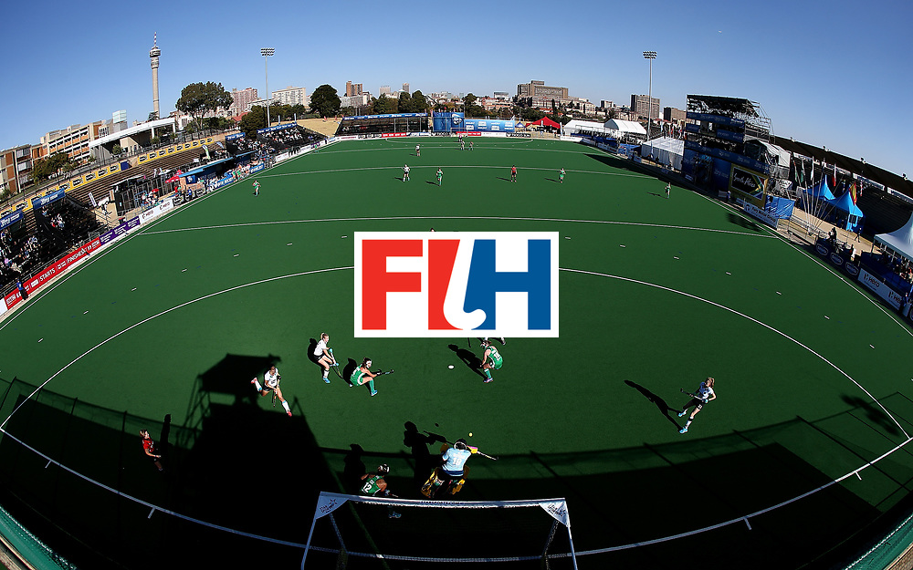 JOHANNESBURG, SOUTH AFRICA - JULY 10:  Ayeisha McFerran, goalkeeper of Ireland saves a shot at goal during day 2 of the FIH Hockey World League Women's Semi Final Pool A match between Germany and Ireland at Wits University on July 10, 2017 in Johannesburg, South Africa.  (Photo by Jan Kruger/Getty Images for FIH)