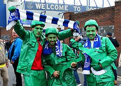 Everton fans wear fancy dress outside Goodison Park - Mandatory by-line: Matt McNulty/JMP - 30/10/2016 - FOOTBALL - Goodison Park - Liverpool, England - Everton v West Ham United - Premier League