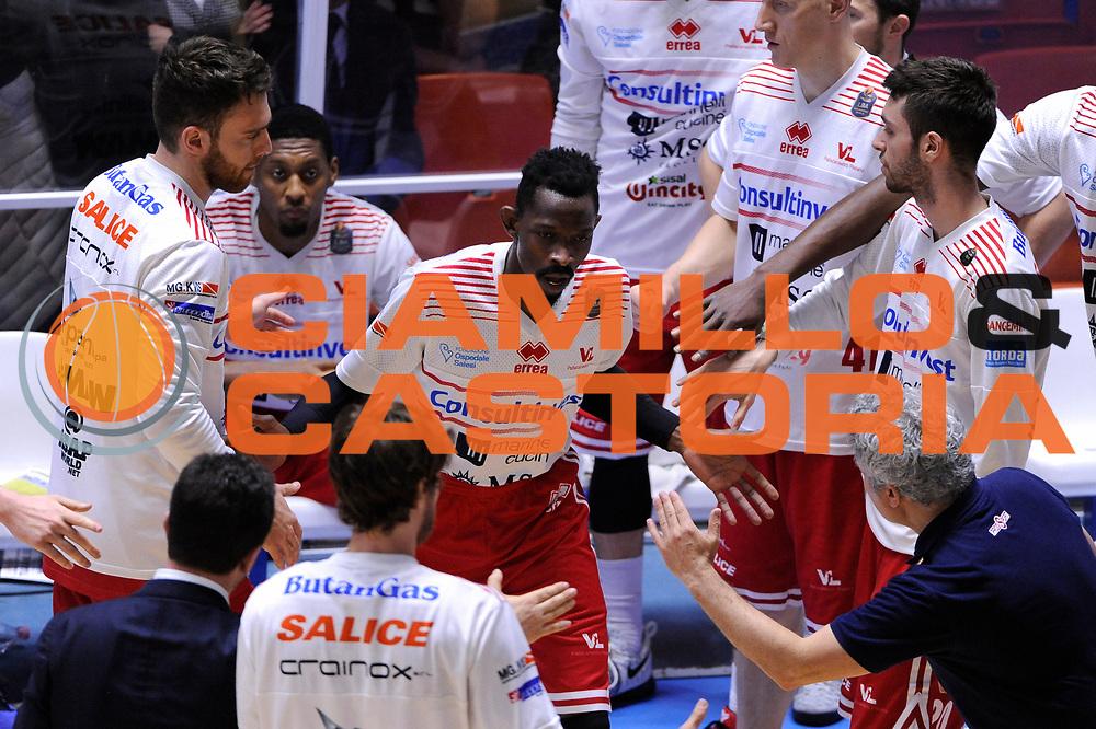 Enel Brindisi - Consultinvest Pesaro<br /> Lega Basket Serie A 2016/2017<br /> Brindisi, 09/04//2017<br /> Foto Ciamillo-Castoria