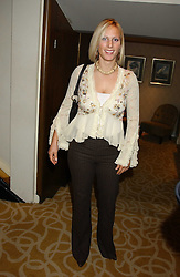 ZARA PHILLIPS at The Sir Peter O'Sullevan Charitable Trust Lunch at The Savoy, London on 23rd November 2005.<br />