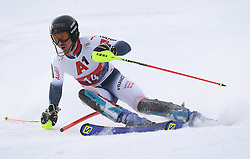 26.01.2020, Streif, Kitzbühel, AUT, FIS Weltcup Ski Alpin, Slalom, Herren, 1. Lauf, im Bild Victor Muffat-Jeandet (FRA) // Victor Muffat-Jeandet (FRA) in action during his 1st run in the men's Slalom of FIS Ski Alpine World Cup at the Streif in Kitzbühel, Austria on 2020/01/26. EXPA Pictures © 2020, PhotoCredit: EXPA/ SM<br /> <br /> *****ATTENTION - OUT of GER*****
