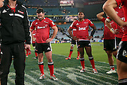 Ryan Crotty disappointed. NSW Waratahs v Canterbury Crusaders. Sport Rugby Union Super Rugby Representative Provincial. ANZ Stadium. 23 May 2015. Photo by Paul Seiser/SPA Images