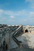 San Fernando de Bocachica courtyard (Spanish fort-1753), Tierrabomba island,  Cartagena de Indias, Bolivar Department,, Colombia, South America..