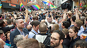 Vigil for the people murdered in the Pulse Club shooting in Orlando Florida by Omar Mateen<br /> in Old Compton Street, London, Great Britain <br /> 13th June 2016 <br /> <br /> <br /> <br /> Photograph by Elliott Franks <br /> Image licensed to Elliott Franks Photography Services