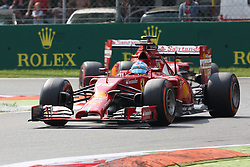 07.09.2014, Autodromo di Monza, Monza, ITA, FIA, Formel 1, Grand Prix von Italien, Renntag, im Bild Fernando Alonso (Scuderia Ferrari) vor Kimi Raeikkoenen (Scuderia Ferrari) // during the race day of Italian Formula One Grand Prix at the Autodromo di Monza in Monza, Italy on 2014/09/07. EXPA Pictures © 2014, PhotoCredit: EXPA/ Eibner-Pressefoto/ Bermel<br /> <br /> *****ATTENTION - OUT of GER*****