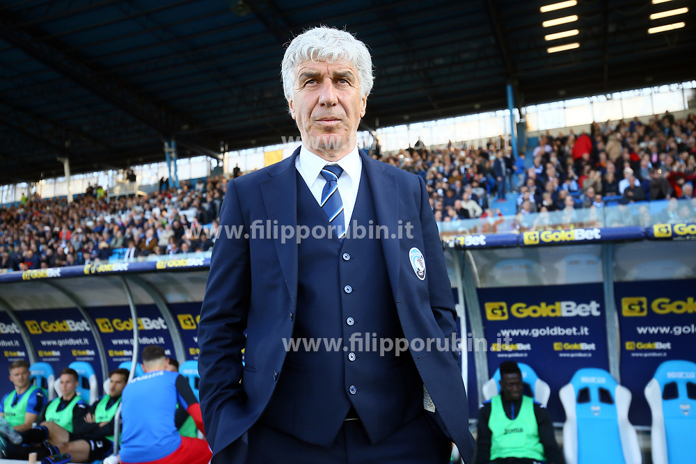 "Foto Filippo Rubin<br /> 07/04/2018 Ferrara (Italia)<br /> Sport Calcio<br /> Spal - Atalanta - Campionato di calcio Serie A 2017/2018 - Stadio ""Paolo Mazza""<br /> Nella foto: GIAN PIERO GASPERINI (ALLENATORE ATALANTA)<br /> <br /> Photo by Filippo Rubin<br /> April 07, 2018 Ferrara (Italy)<br /> Sport Soccer<br /> Spal vs Atalanta - Italian Football Championship League A 2017/2018 - ""Paolo Mazza"" Stadium <br /> In the pic: GIAN PIERO GASPERINI (ATALANTA'S TRAINER)"
