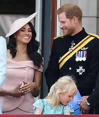 The Duke and Duchess of Sussex attend Trooping the Colour - 9June 2018