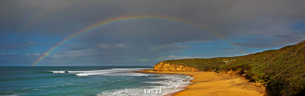 rainbow over Bells Beach