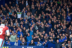 LIVERPOOL, ENGLAND - Saturday, April 15, 2017: Everton supporters react during the FA Premier League match against Burnley at Goodison Park. (Pic by David Rawcliffe/Propaganda)