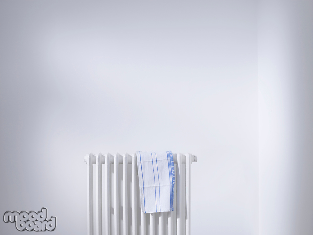 Dish cloth on radiator
