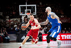December 29, 2017 - Assago, Milan, Italy - Dairis Bertans (#45 AX Armani Exchange Milan) dri\  during a game of Turkish Airlines EuroLeague basketball between  AX Armani Exchange Milan vs Crvena Zvzda Mts Belgrade at Mediolanum Forum in Milan, Italy, on 29 december 2017. (Credit Image: © Roberto Finizio/NurPhoto via ZUMA Press)