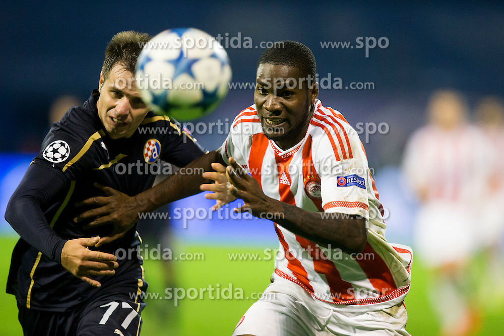 Endri Cekici #17 of GNK Dinamo Zagreb during football match between GNK Dinamo Zagreb and Olympiakos in Group F of Group Stage of UEFA Champions League 2015/16, on October 20, 2015 in Stadium Maksimir, Zagreb, Croatia. Photo by Urban Urbanc / Sportida