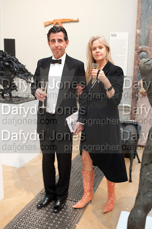 STEVE COOKE; BONGO BIRLEY, Triennial Summer Ball, Royal Academy. Piccadilly. London. 20 June 2011. <br /> <br />  , -DO NOT ARCHIVE-© Copyright Photograph by Dafydd Jones. 248 Clapham Rd. London SW9 0PZ. Tel 0207 820 0771. www.dafjones.com.