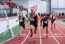 ECAC/IC4A Track and Field Indoor Championships<br /> 200 meters, Rutgers sweep, Antonia Tarantino, Izaiah Brown (meet record), Taj Burgess