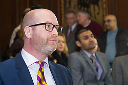 Westminster, London, March 27th 2017. Ahead of the Prime Minister triggering Article 50 next week, UKIP Leader Paul Nuttall sets out six key tests by which the country can judge Theresa May's Brexit negotiations in a keynote speech in London. CREDIT: &copy;Paul Davey<br /> <br /> &copy;Paul Davey<br /> FOR LICENCING CONTACT: Paul Davey +44 (0) 7966 016 296 paul@pauldaveycreative.co.uk