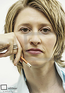 Blonde Frau, Portraet (model-released)