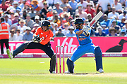 Virat Kohli (captain) of India batting during the 3rd Vitality International T20 match between England and India at the Brightside County Ground, Bristol, United Kingdom on 8 July 2018. Picture by Graham Hunt.