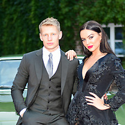 Charlie Frederick,Rosie Anna Williams attends the 2018 Grand Prix Ball held at The Hurlingham Club on July 4, 2018 in London, England.