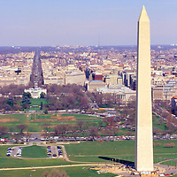 Color Photographs of the Washington DC Monuments in and  around the National Mall