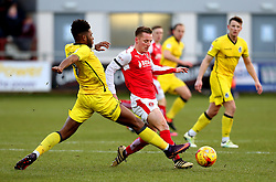 Ellis Harrison of Bristol Rovers tackles George Glendon of Fleetwood Town - Mandatory by-line: Matt McNulty/JMP - 14/01/2017 - FOOTBALL - Highbury Stadium - Fleetwood, England - Fleetwood Town v Bristol Rovers - Sky Bet League One