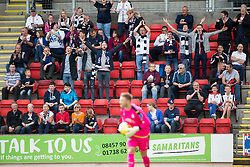 Falkirk fans. St Johnstone 3 v 0 Falkirk, Group B, Betfred Cup, played 23/7/2016 at St Johnstone's home ground, McDiarmid Park.